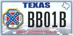 confederate plate